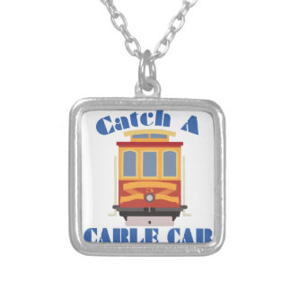 Catch A Cable Car Silver Plated Necklace