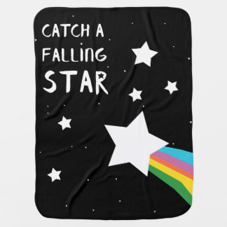 Catch a Falling Star Bold Rainbow Modern Blanket