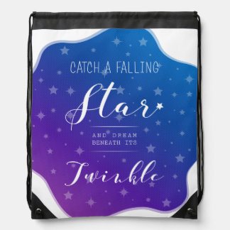 Catch a Falling Star Drawstring Bag