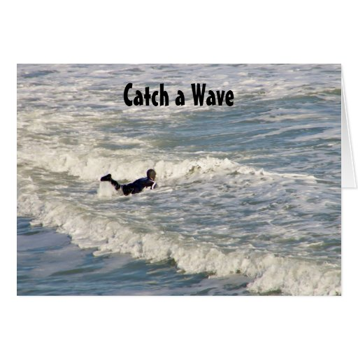 CATCH A WAVE-BIRTHDAY WISHES CARD