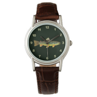Catch and Release Brook Trout Fishing Wristwatch