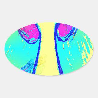 Catch Boom 3 Oval Sticker