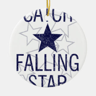 catch falling star ceramic ornament