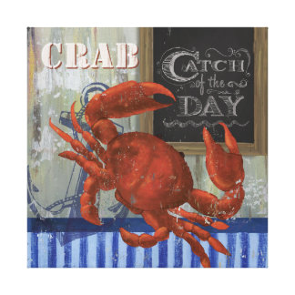 Catch of the day Seafood crab Canvas