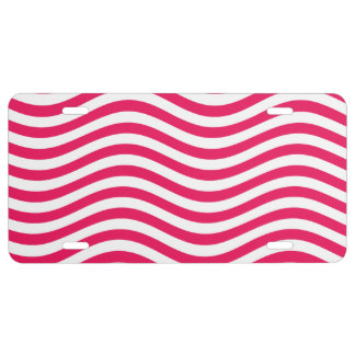 CATCH THE WAVE - HOT PINK ~ ~ LICENSE PLATE