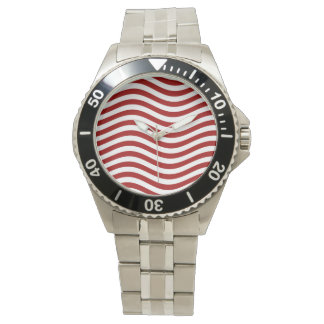 CATCH THE WAVE - RED ~ ~ WRIST WATCHES