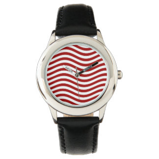 CATCH THE WAVE - RED ~ ~ WRISTWATCH