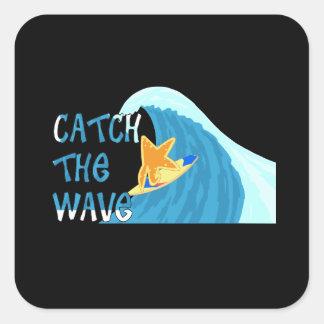 Catch the Wave Square Sticker