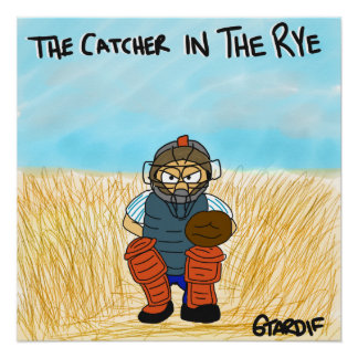 Catcher in the Rye Baseball Poster Perfect Poster