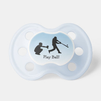 Catcher Pitcher Baseball Blue Sports Pacifier