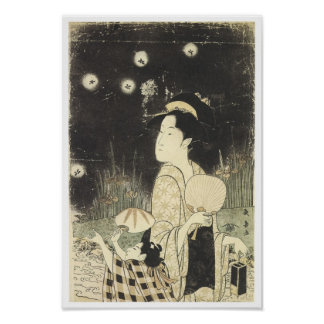 Catching Fireflies Choki 1795 Poster