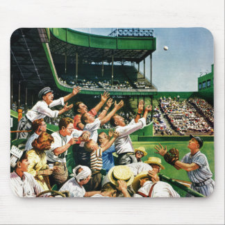 Catching Home Run Ball Mouse Pad