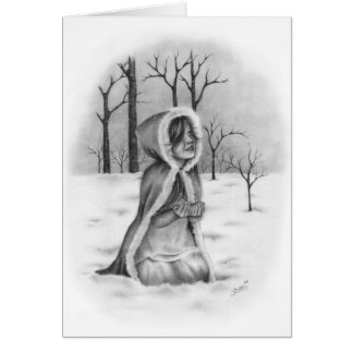 Catching Snowflakes Christmas Greeting Card