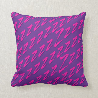 Catching Z's Purple Pink Throw Pillow