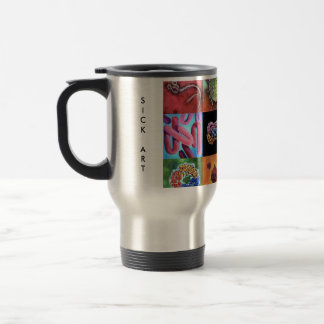 Catchy 15 oz Stainless Steel Virus Travel Mug !
