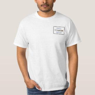 catchy landscaper logo t-shirt