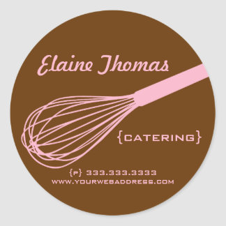 Catering Whisk Stickers Pink & Brown