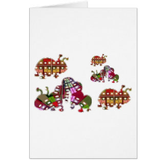 Caterpillar and Ladybug Lady Bug Graphic Card