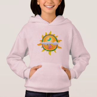 "Caterpillar/Butterfly ""How You See Me"" Girl Hoodie"