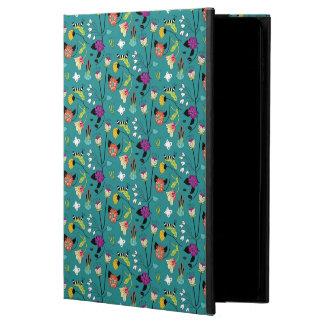 Caterpillar garden in teal powis iPad air 2 case