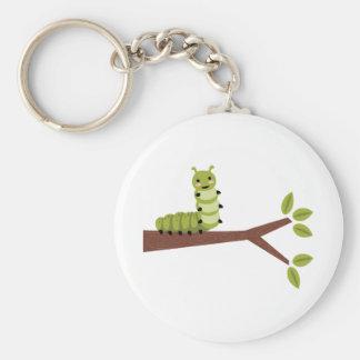 Caterpillar on Twig Keychain