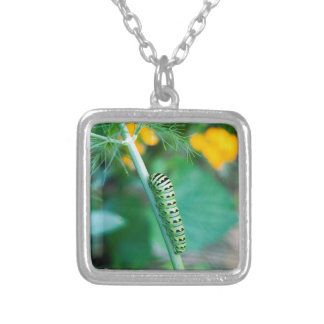 Caterpillar Silver Plated Necklace