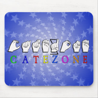 CATEZONE FINGERSPELLED ASL NAMESIGN MOUSE PAD