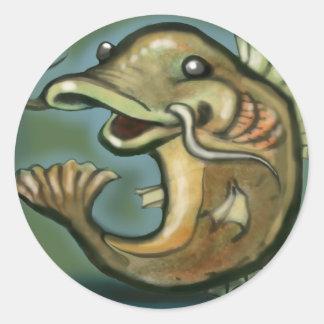 Catfish Classic Round Sticker