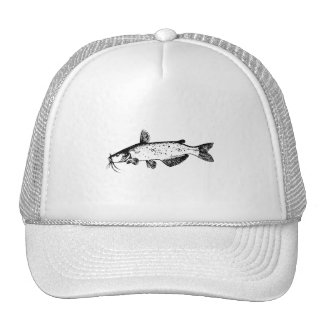 Catfish Illustration Trucker Hats