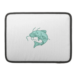 Catfish Mud Cat Jumping Mono Line Sleeves For MacBook Pro