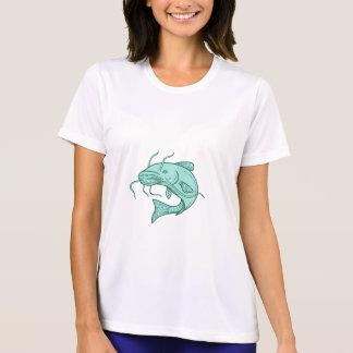 Catfish Mud Cat Jumping Mono Line T-Shirt