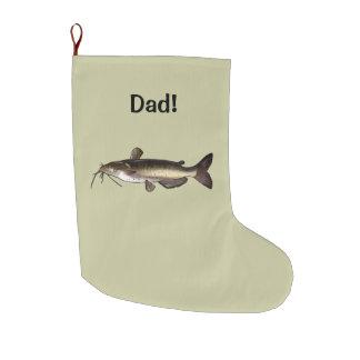 Catfish Name Customizable Large Christmas Stocking