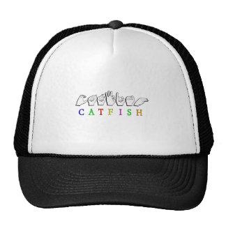 CATFISH NAME SIGN ASL FINGERSPELLED TRUCKER HAT