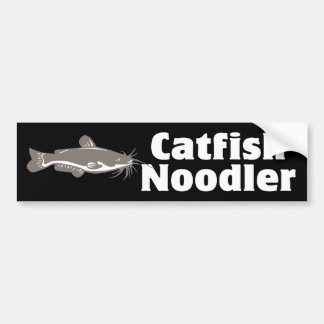 Catfish Noodler Car Bumper Sticker