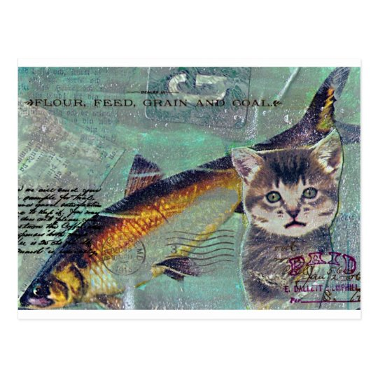 Catfishing Postcard