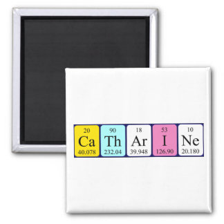 Catharine periodic table name magnet