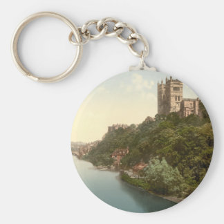 Cathedral and Church, Durham, England Basic Round Button Keychain