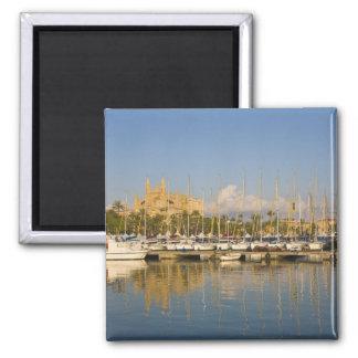 Cathedral and marina, Palma, Mallorca, Spain Magnet