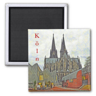 Cathedral and Museum Ludwig in Cologne. Magnet