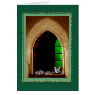 Cathedral Cat Card