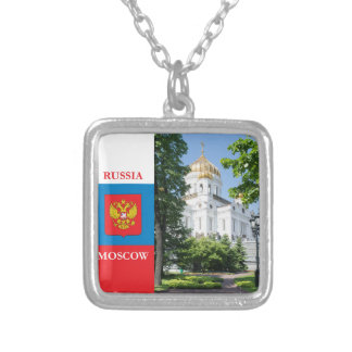 Cathedral Christ the Savior in Moscow Silver Plated Necklace