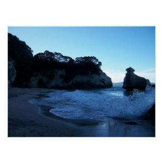Cathedral Cove at dusk Poster