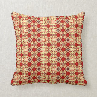 Cathedral Deep Red Tan Taupe pillow