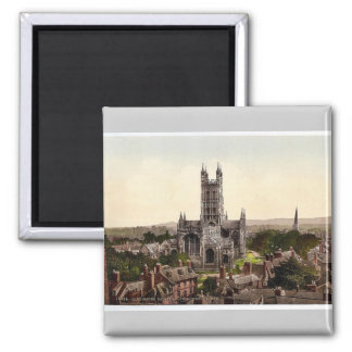 Cathedral from church tower, Gloucester, England r Magnet