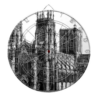 Cathedral Illustration Dartboard