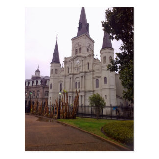 Cathedral In Rain, New Orleans Postcard