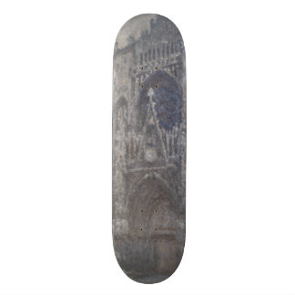 Cathedral in Rouen Portal Grey Weather by Monet Skateboards