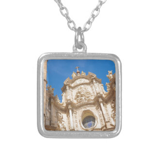 Cathedral in Valencia, Spain Silver Plated Necklace