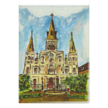 Cathedral, Jackson Square, New Orleans Posters