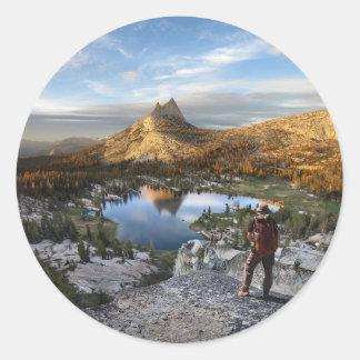 Cathedral Lake / Peak - Yosemite - John Muir Trail Classic Round Sticker